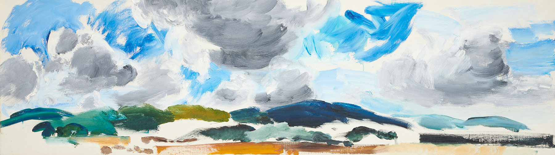 South Downs under South West Clouds, 1964, John Hitchens, Artist