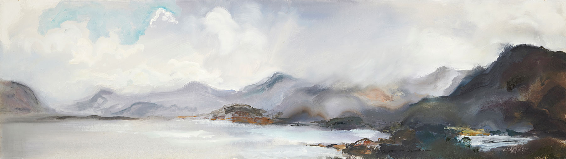 Loch Torridon, Clearing Skies, 1971, 43 x 151.5 cm, oil on canvas