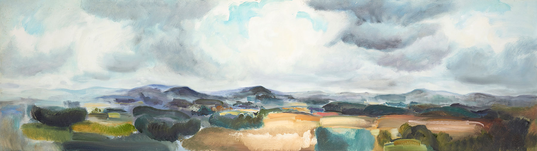 Lowland Panorama September, 1972, 61 x 213 cm, oil on canvas