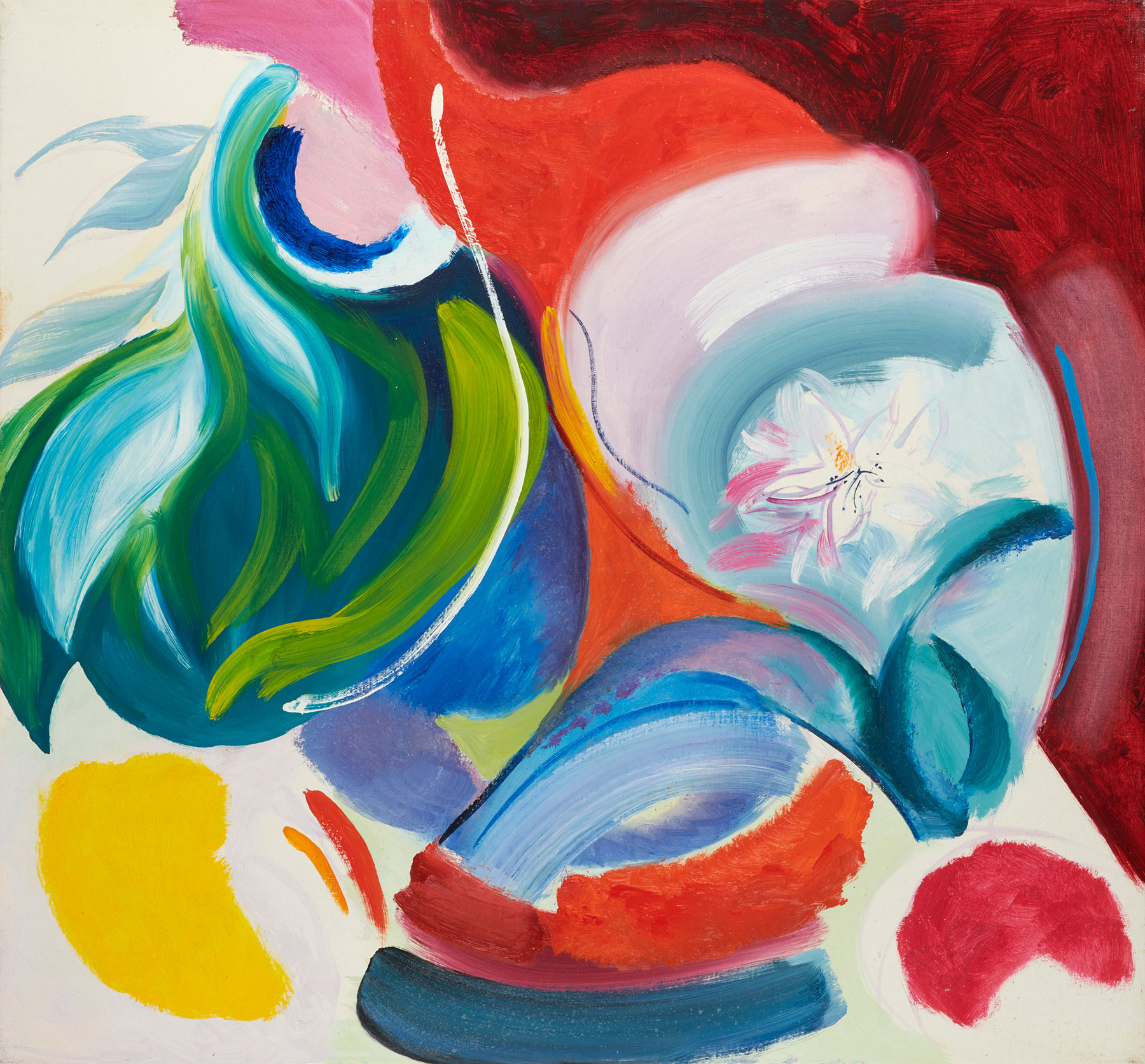 Leafy Shades, 1967, 71 x 76 cm, oil on canvas