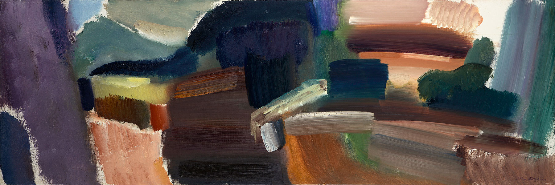 October Earth, 1977, 51 x 152 cm, oil on canvas