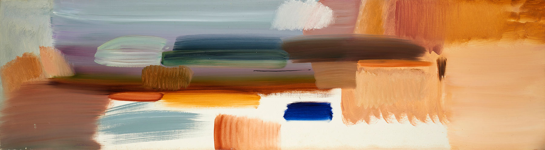 Autumn Spaces, 1977, 50.5 x 183 cm, oil on canvas