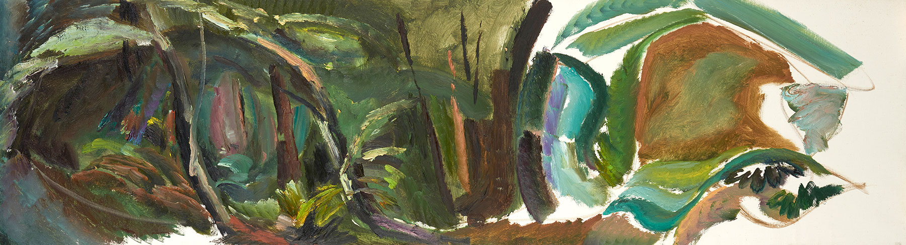 Farwood Summer Deepness, 1981, 50.5 x 183 cm, oil on canvas