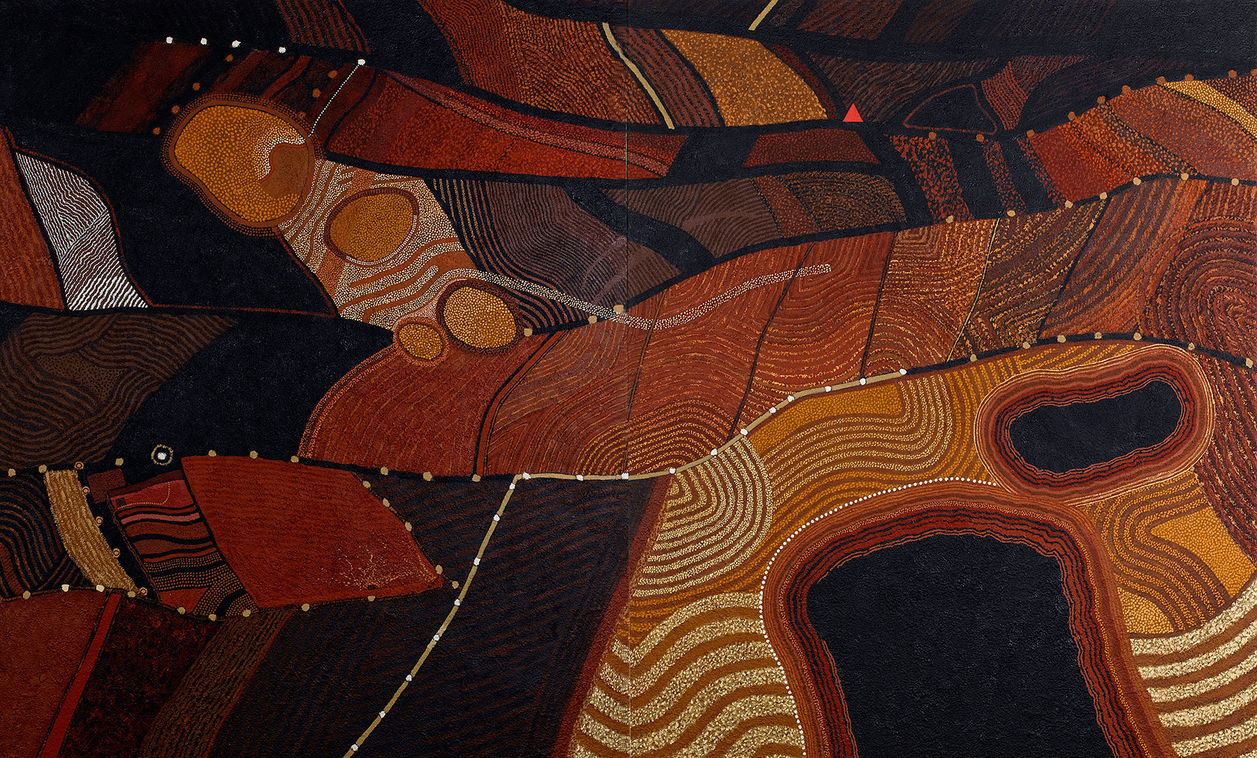 Layered Land, 2002, 232 x 328 cm, oil on canvas