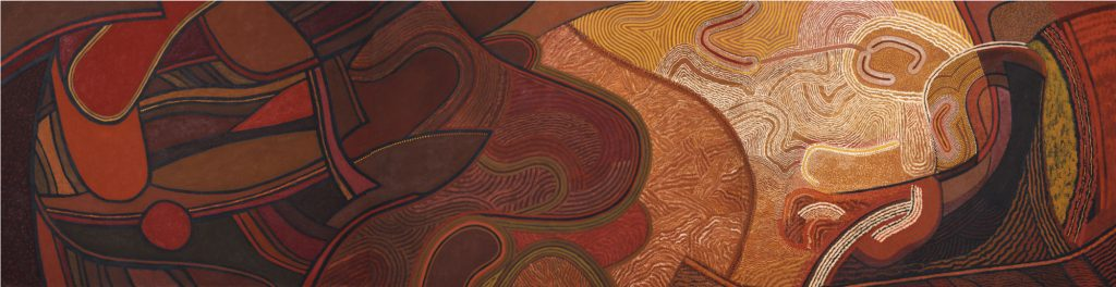 From Sombre Lands, 2001, 127 x 486 cm, oil on canvas